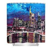 Frankfurt Main Germany - Mainhattan Skyline Shower Curtain