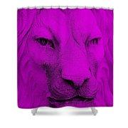 Frankie Lion Purple Shower Curtain