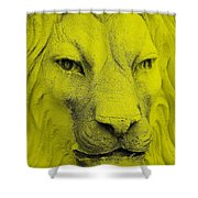 Frankie Lion Yellow Shower Curtain