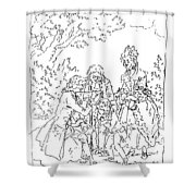 Franklin & Voltaire Shower Curtain