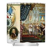 Franklin At Versailles Shower Curtain