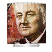 Franklin D. Roosevelt Shower Curtain by Corporate Art Task Force