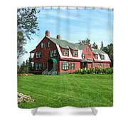 Franklin D. Roosevelts Beloved Island Campobello Shower Curtain by Edward Fielding