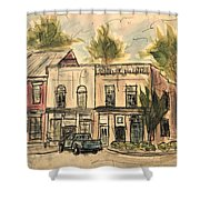 Franklin Facelift Shower Curtain by Tim Ross