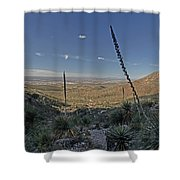 Franklin Mountains Landscape 4 Shower Curtain
