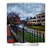 Franklin Park Shower Curtain by Everet Regal