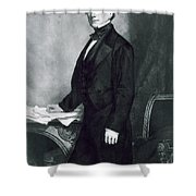Franklin Pierce Shower Curtain by George Healy