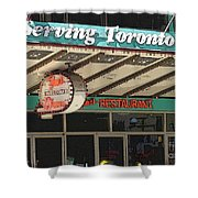 Fran's Restaurant  Toronto Diner Icon Shower Curtain