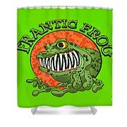 Frantic Frog Shower Curtain