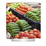 Frash Fruit And Vegetables Shower Curtain
