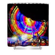 Freak Out ... Electric Rainbow Shower Curtain