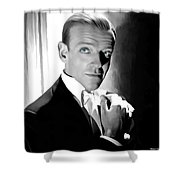 Fred Astaire Portrait Shower Curtain