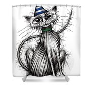 Fred The Cat Shower Curtain