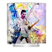 Freddie Mercury - Queen Original Painting Print Shower Curtain