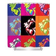 Freddie Mercury Pop Art Shower Curtain