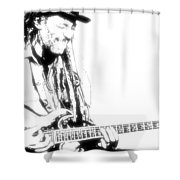 Freddy And His Guitar Shower Curtain