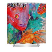 Freddy Fish And Friends Shower Curtain