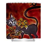 Freddy The Cat Shower Curtain