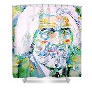 Frederick Douglass - Watercolor Portrait Shower Curtain