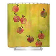Free Apples Shower Curtain