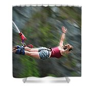 Free As A Bird Bungee Jumping Shower Curtain