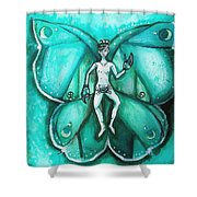 Free As A Cancer Shower Curtain