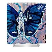 Free As A Libra Shower Curtain