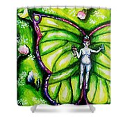 Free As Spring Flowers Shower Curtain