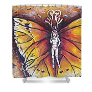 Free As The Flame Shower Curtain