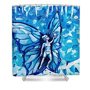 Free As Winter Snow Shower Curtain