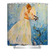 Free At Last, Angel Shower Curtain