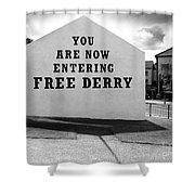 Free Derry Corner 9 Shower Curtain