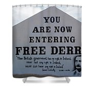Free Derry Corner, Republican Political Shower Curtain