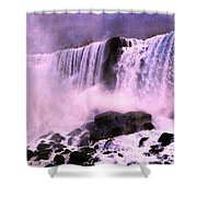 Free Falls Oil Effect Image Shower Curtain