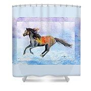 Da114 Free Gallop By Daniel Adams Shower Curtain
