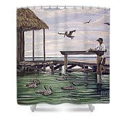 Free Meal Shower Curtain