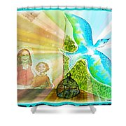 Free Spirit Dreamscape - Within Border Shower Curtain