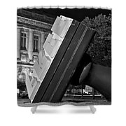Free Stamp In Black And White Shower Curtain
