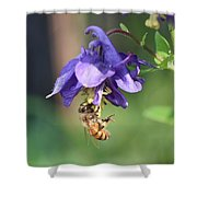 Free Swinging And Gathering Shower Curtain