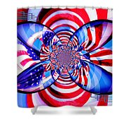 Freedom Abstract  Shower Curtain