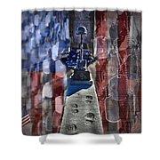 Freedom Ain't Free Shower Curtain by DJ Florek