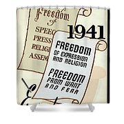 Freedom Everywhere In The World Shower Curtain
