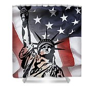 Freedom For Citizens Shower Curtain by Daniel Hagerman
