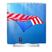 Freedom In Flight  Shower Curtain