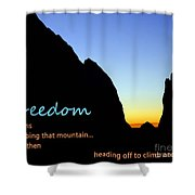 Freedom Means 003 Shower Curtain