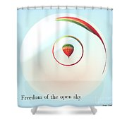 Freedom Of The Open Sky Shower Curtain