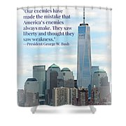 Freedom On The Rise Shower Curtain