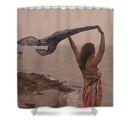 Freedom On Top Of A Cliff Shower Curtain