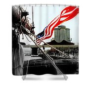 Freedom Sails Shower Curtain by Michael Hoard