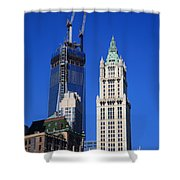 Freedom Tower And Woolworth Building Shower Curtain